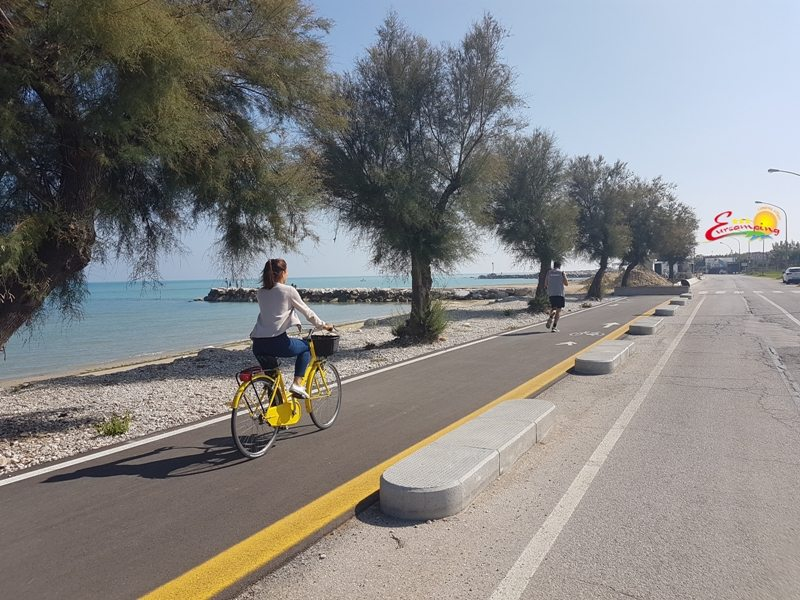 Cycle track South of Roseto